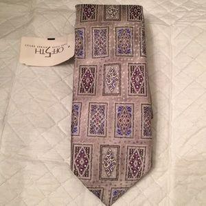 Robert Talbott silver silk tie